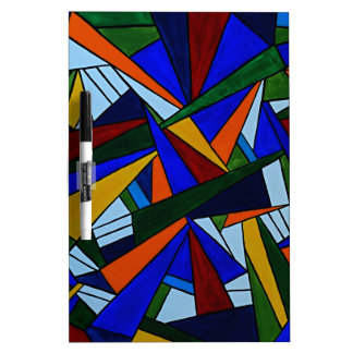 Colorful Fragments Dry Erase Board