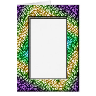 Colorful frame card