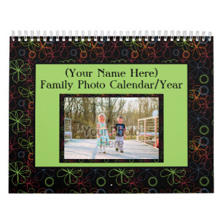 Colorful Frames Family Photo 1 per Page Calendar