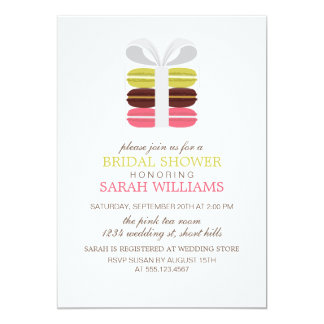 "Colorful French Macarons 5"" X 7"" Invitation Card"
