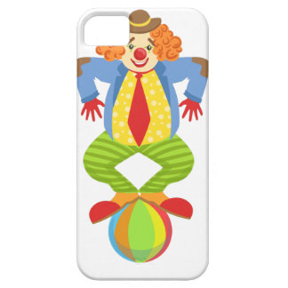 Colorful Friendly Clown Balancing On Ball In Class iPhone 5 Case