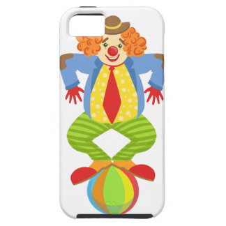 Colorful Friendly Clown Balancing On Ball In Class iPhone 5 Cover