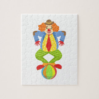 Colorful Friendly Clown Balancing On Ball In Class Jigsaw Puzzle
