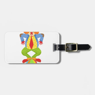 Colorful Friendly Clown Balancing On Ball In Class Luggage Tag