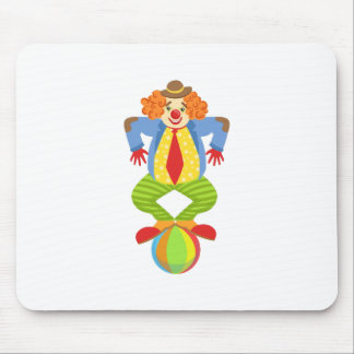 Colorful Friendly Clown Balancing On Ball In Class Mouse Pad