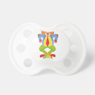 Colorful Friendly Clown Balancing On Ball In Class Pacifier