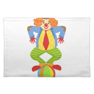 Colorful Friendly Clown Balancing On Ball In Class Placemat