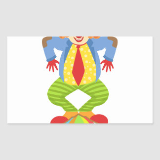 Colorful Friendly Clown Balancing On Ball In Class Sticker