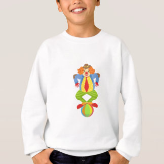 Colorful Friendly Clown Balancing On Ball In Class Sweatshirt