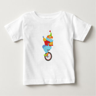 Colorful Friendly Clown Balancing On Unicycle Baby T-Shirt