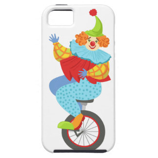 Colorful Friendly Clown Balancing On Unicycle Case For The iPhone 5