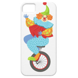 Colorful Friendly Clown Balancing On Unicycle iPhone 5 Case