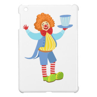 Colorful Friendly Clown Holding Top Hat In Classic Cover For The iPad Mini