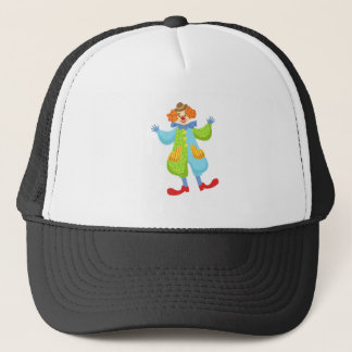 Colorful Friendly Clown In Bowler Hat In Classic O