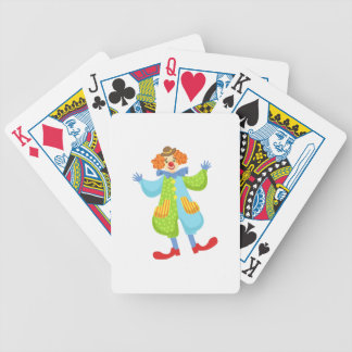 Colorful Friendly Clown In Bowler Hat In Classic O Bicycle Playing Cards