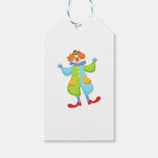 Colorful Friendly Clown In Bowler Hat In Classic O Gift Tags