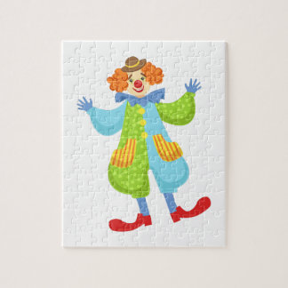 Colorful Friendly Clown In Bowler Hat In Classic O Jigsaw Puzzle