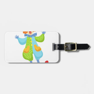 Colorful Friendly Clown In Bowler Hat In Classic O Luggage Tag