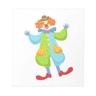 Colorful Friendly Clown In Bowler Hat In Classic O Notepad