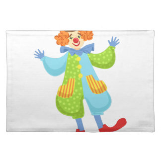 Colorful Friendly Clown In Bowler Hat In Classic O Placemat
