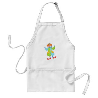 Colorful Friendly Clown In Bowler Hat In Classic O Standard Apron