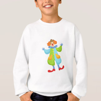 Colorful Friendly Clown In Bowler Hat In Classic O Sweatshirt