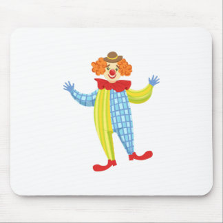 Colorful Friendly Clown In Derby Hat And Classic Mouse Pad