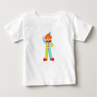 Colorful Friendly Clown In Party Hat Classic Outfi Baby T-Shirt