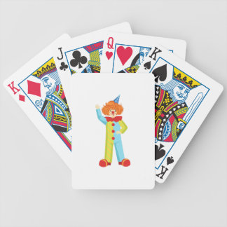 Colorful Friendly Clown In Party Hat Classic Outfi Bicycle Playing Cards