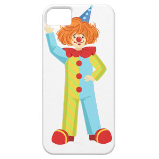 Colorful Friendly Clown In Party Hat Classic Outfi Case For The iPhone 5