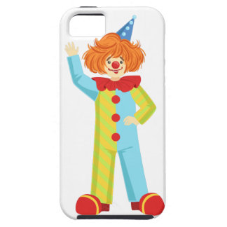 Colorful Friendly Clown In Party Hat Classic Outfi iPhone 5 Case