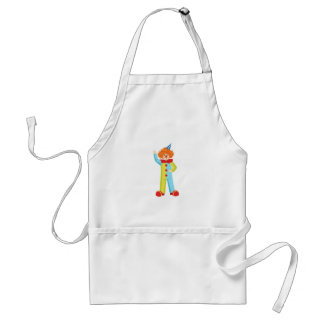 Colorful Friendly Clown In Party Hat Classic Outfi Standard Apron