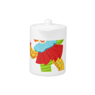 Colorful Friendly Clown In Ruffle To Classic Outfi