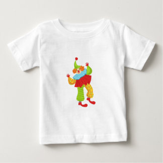 Colorful Friendly Clown In Ruffle To Classic Outfi Baby T-Shirt