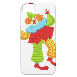Colorful Friendly Clown In Ruffle To Classic Outfi Case For The iPhone 5