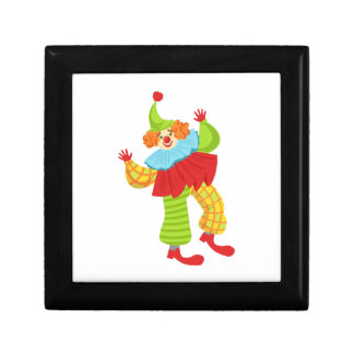 Colorful Friendly Clown In Ruffle To Classic Outfi Gift Box