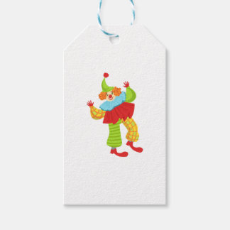 Colorful Friendly Clown In Ruffle To Classic Outfi Gift Tags
