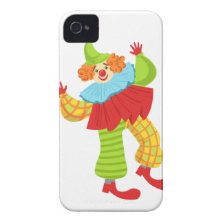 Colorful Friendly Clown In Ruffle To Classic Outfi iPhone 4 Covers