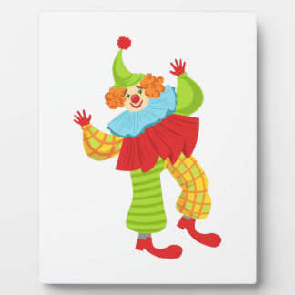 Colorful Friendly Clown In Ruffle To Classic Outfi Plaque