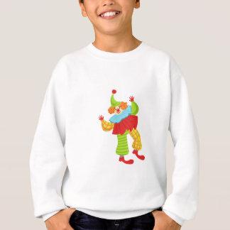 Colorful Friendly Clown In Ruffle To Classic Outfi Sweatshirt