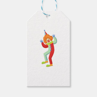 Colorful Friendly Clown Performing In Classic Outf Gift Tags