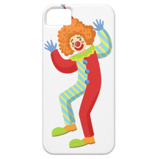 Colorful Friendly Clown Performing In Classic Outf iPhone 5 Cases