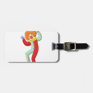 Colorful Friendly Clown Performing In Classic Outf Luggage Tag