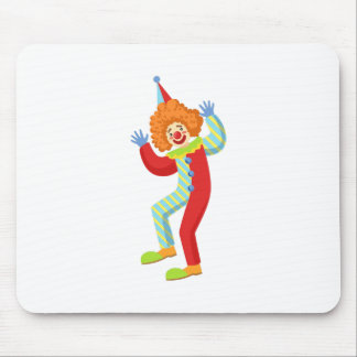 Colorful Friendly Clown Performing In Classic Outf Mouse Pad