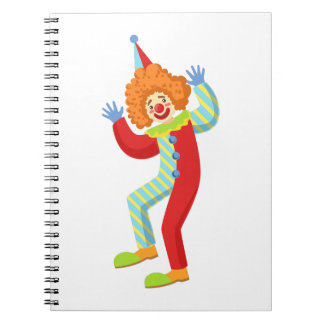 Colorful Friendly Clown Performing In Classic Outf Notebook