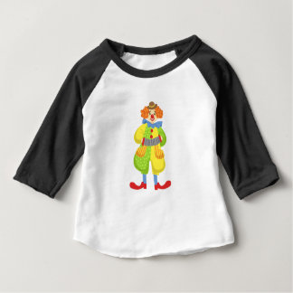 Colorful Friendly Clown Playing Accordion In Class Baby T-Shirt