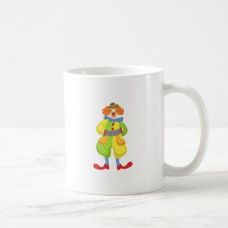 Colorful Friendly Clown Playing Accordion In Class Coffee Mug