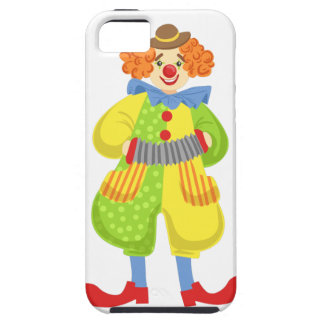 Colorful Friendly Clown Playing Accordion In Class iPhone 5 Covers