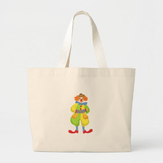 Colorful Friendly Clown Playing Accordion In Class Large Tote Bag