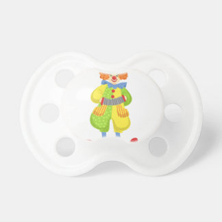 Colorful Friendly Clown Playing Accordion In Class Pacifier